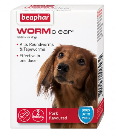Beaphar WORMclear Tablets for Dogs up to 20kg