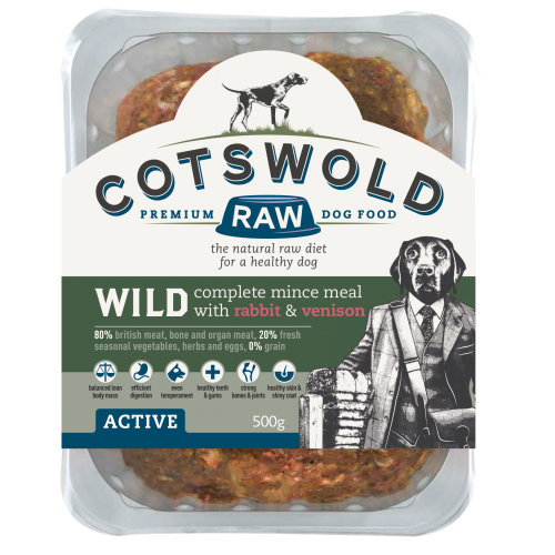 Cotswold Raw Wild Range Mince (Rabbit and Venison) 80/20