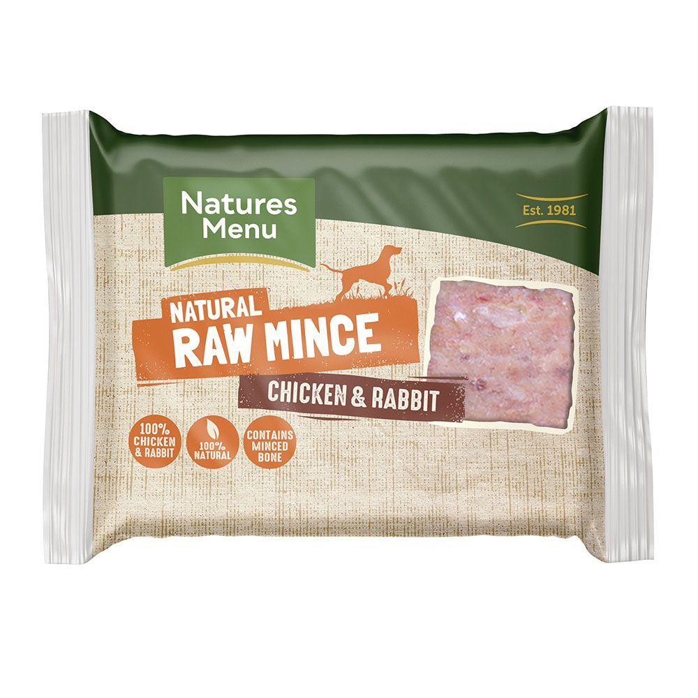 Raw Chicken and Rabbit Mince Portions (400g)