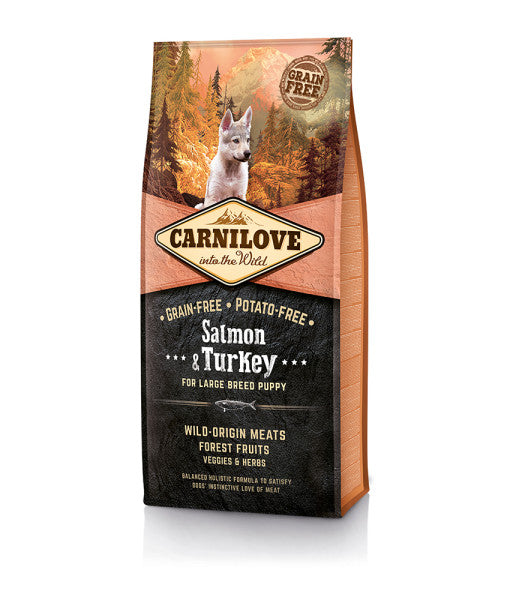 CARNILOVE LARGE BREED PUPPY (SALMON & TURKEY)