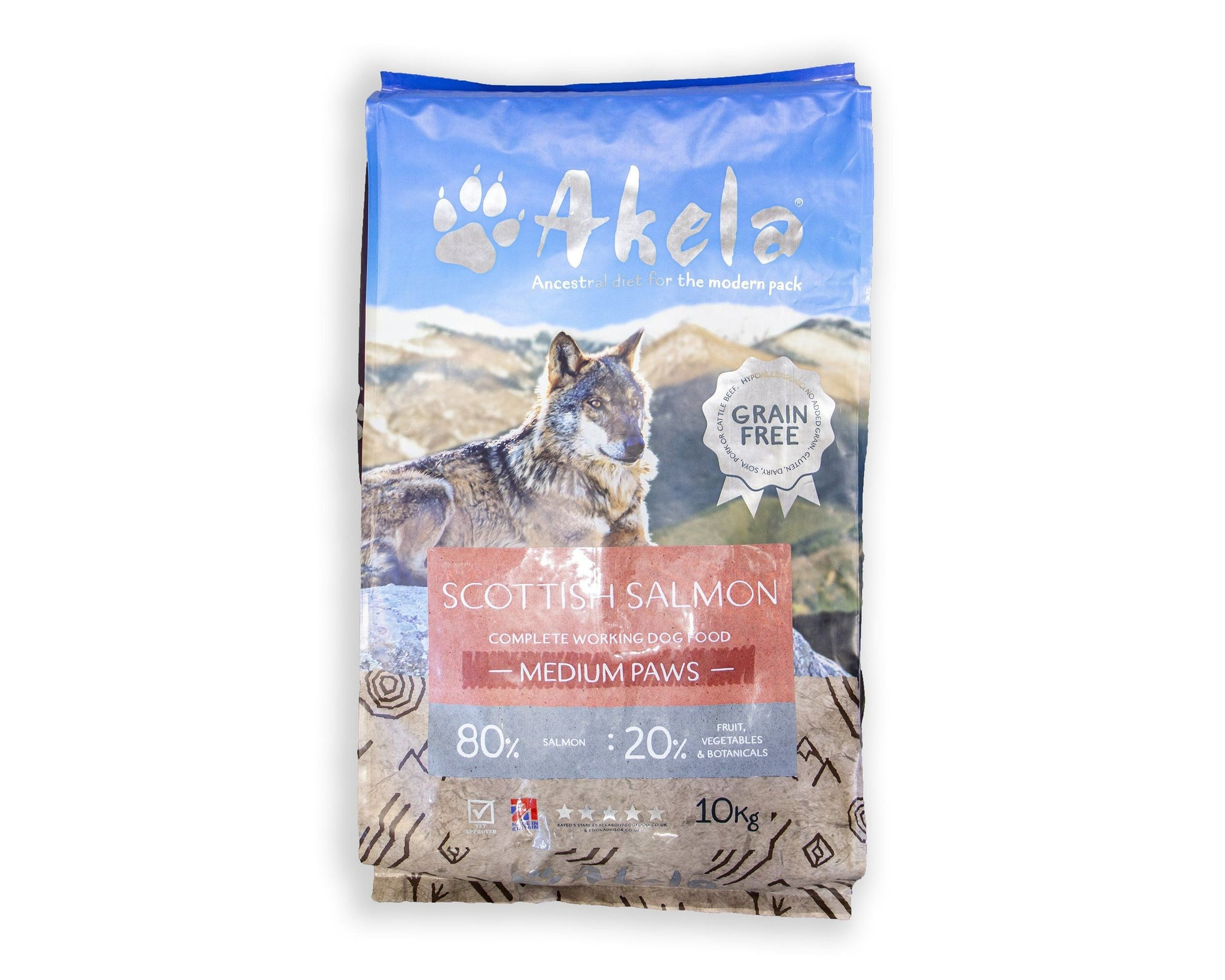 Akela 80:20 Puppy/Adult Scottish Salmon Grain-Free Working Dog Food