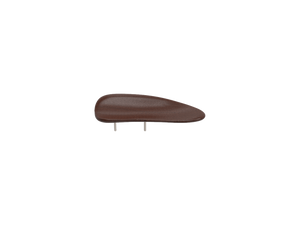 beautifully sleek, brown, wooden BERLIN chin rest, has a broader lip.