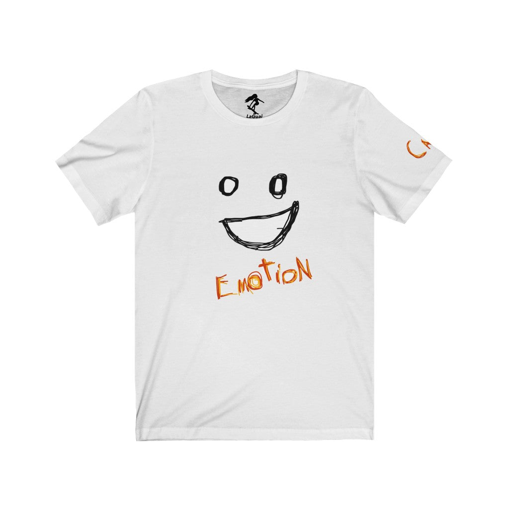Emoji Emotion Face Orange Unisex Tee