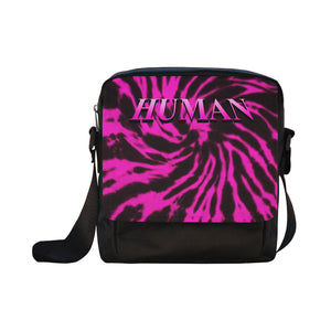LaGuai Human Pink Tie Dye Cross-body Bag