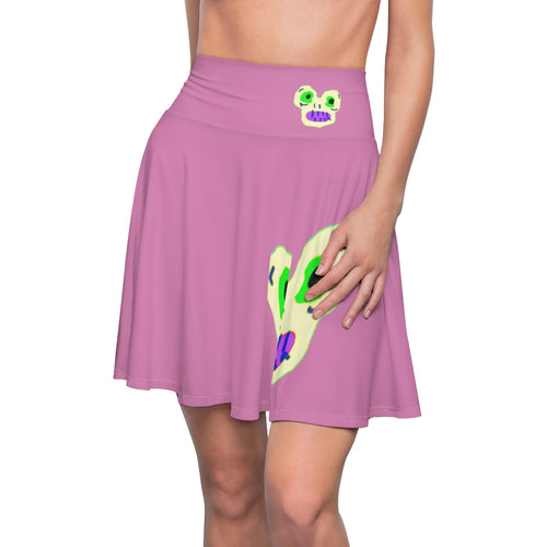 Magic Monster Pink Women's Skater Skirt
