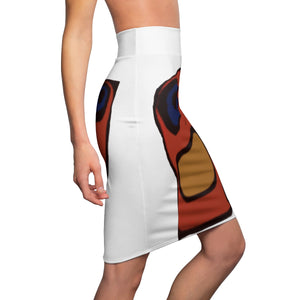 B-Blue Women's Pencil Skirt