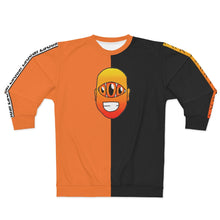 Load image into Gallery viewer, Tokyo Two-tone Orange Black Unisex Sweatshirt Anime Hero