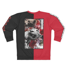 Load image into Gallery viewer, Spirit Duality Red Unisex Sweatshirt Two-Tone Tiger Red Rose