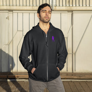 LaGuai Human Purple Camo Unisex Zip Up Hoodie
