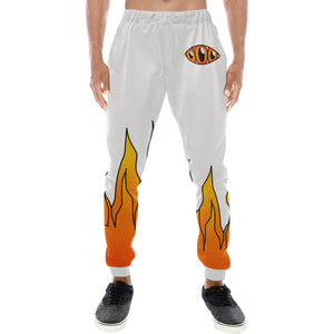 Third Eye Flames White sweatpants