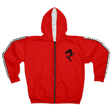 Load image into Gallery viewer, LaGuai Signature Red Unisex Zip Hoodie