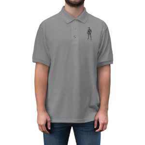 LaGuai Human Grey Camo Men's Jersey Polo Shirt