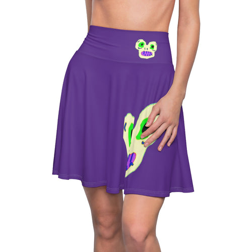 Magic Monster Purple Women's Skater Skirt