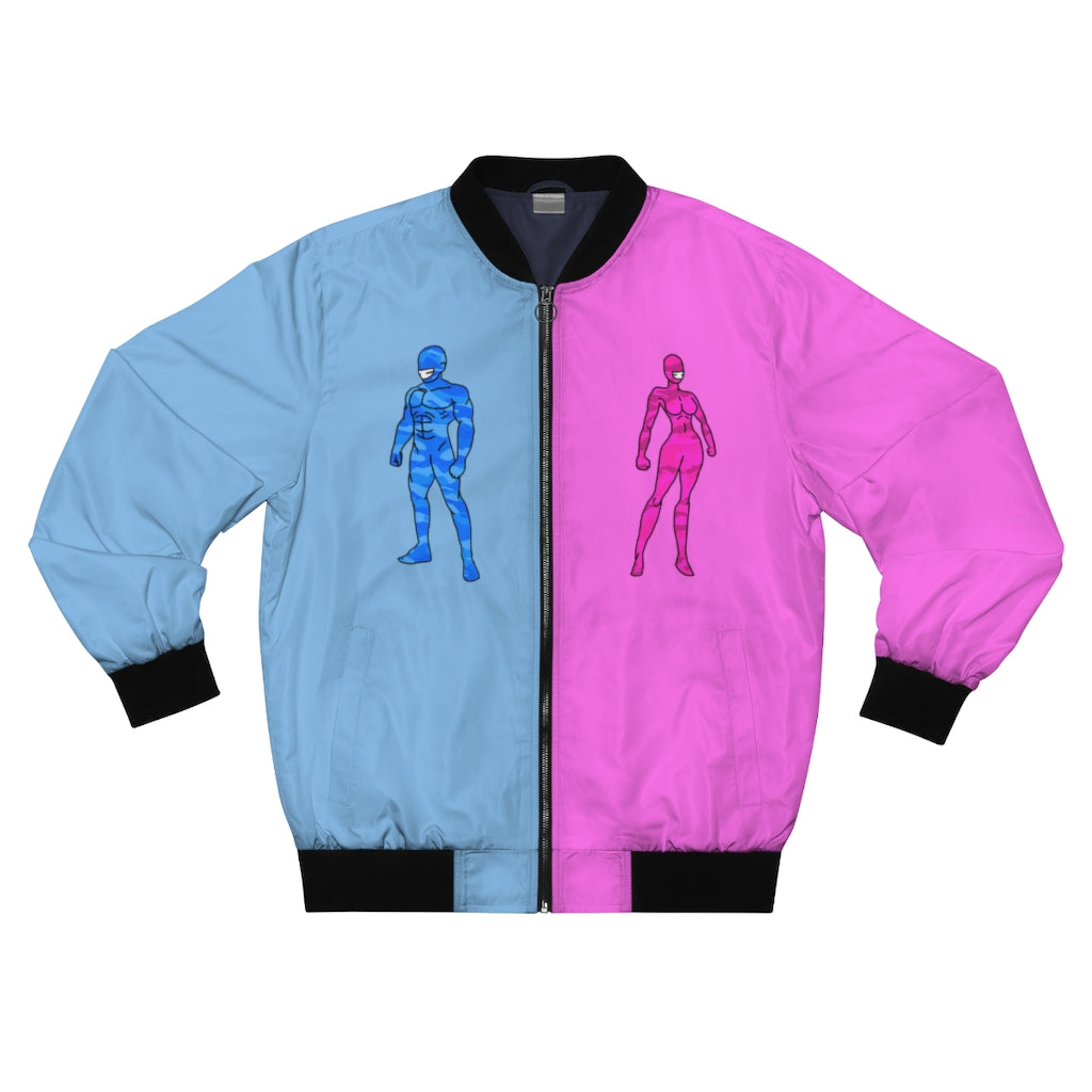 LaGuai Human Blue&Pink Bomber Jacket