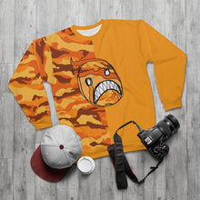 Load image into Gallery viewer, Emoji Frown Orange Two-Tone Unisex Sweatshirt