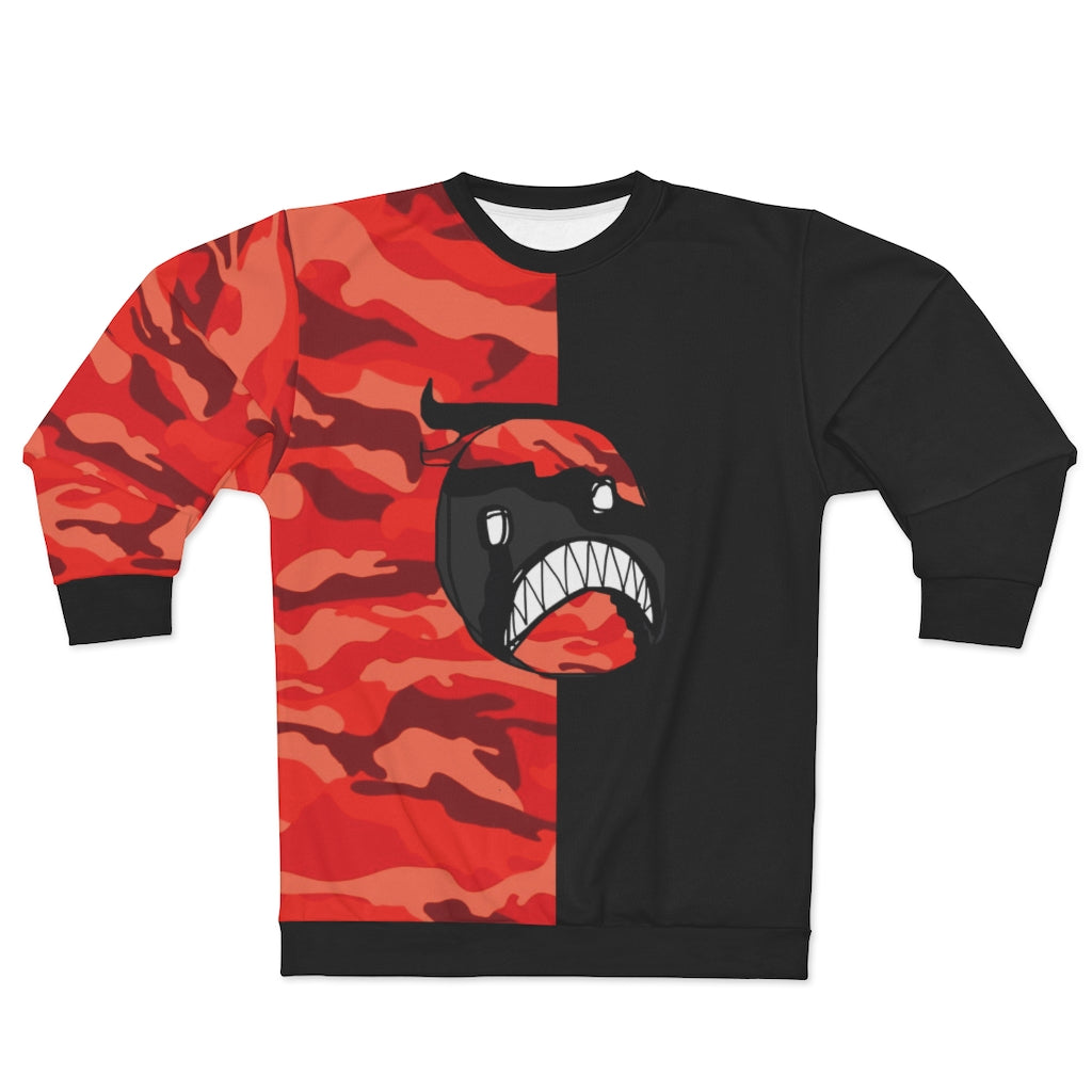 LaGuai Emoji Red Camo two-tone Unisex Sweatshirt