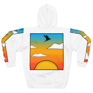Wise Eagle Sun Set Unisex Pullover Hoodie