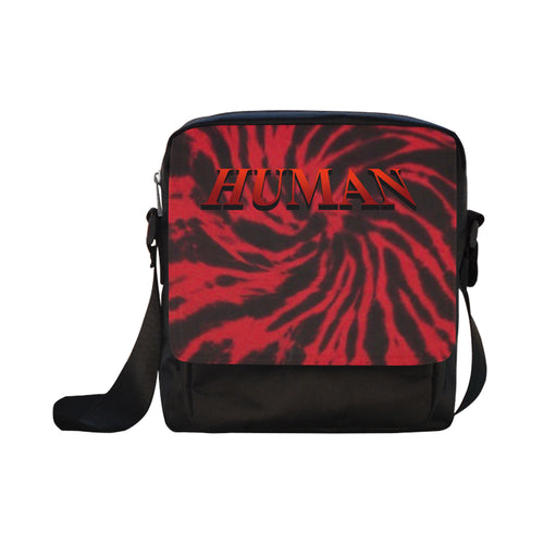 Human Red Tie dye Cross-body Bag