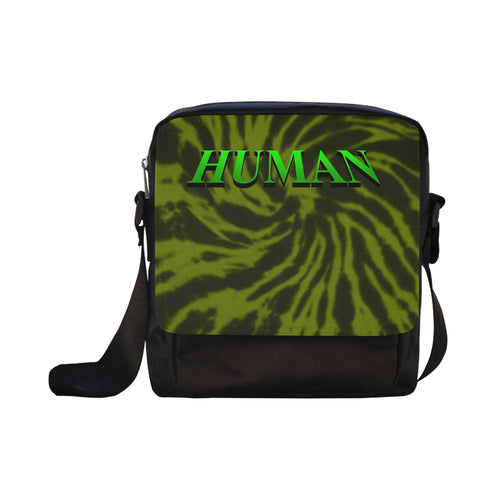 Human Green Tie dye Cross-body Bag