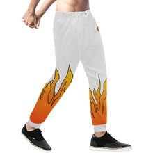 Load image into Gallery viewer, Third Eye Flames White sweatpants