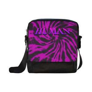 Human Purple Tie dye Cross-body Bag