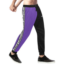 Load image into Gallery viewer, Spirit Two-Tone Purple/Black Sweatpants
