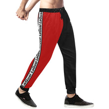 Load image into Gallery viewer, Spirit Duality Two-Tone Red/Black Sweatpants