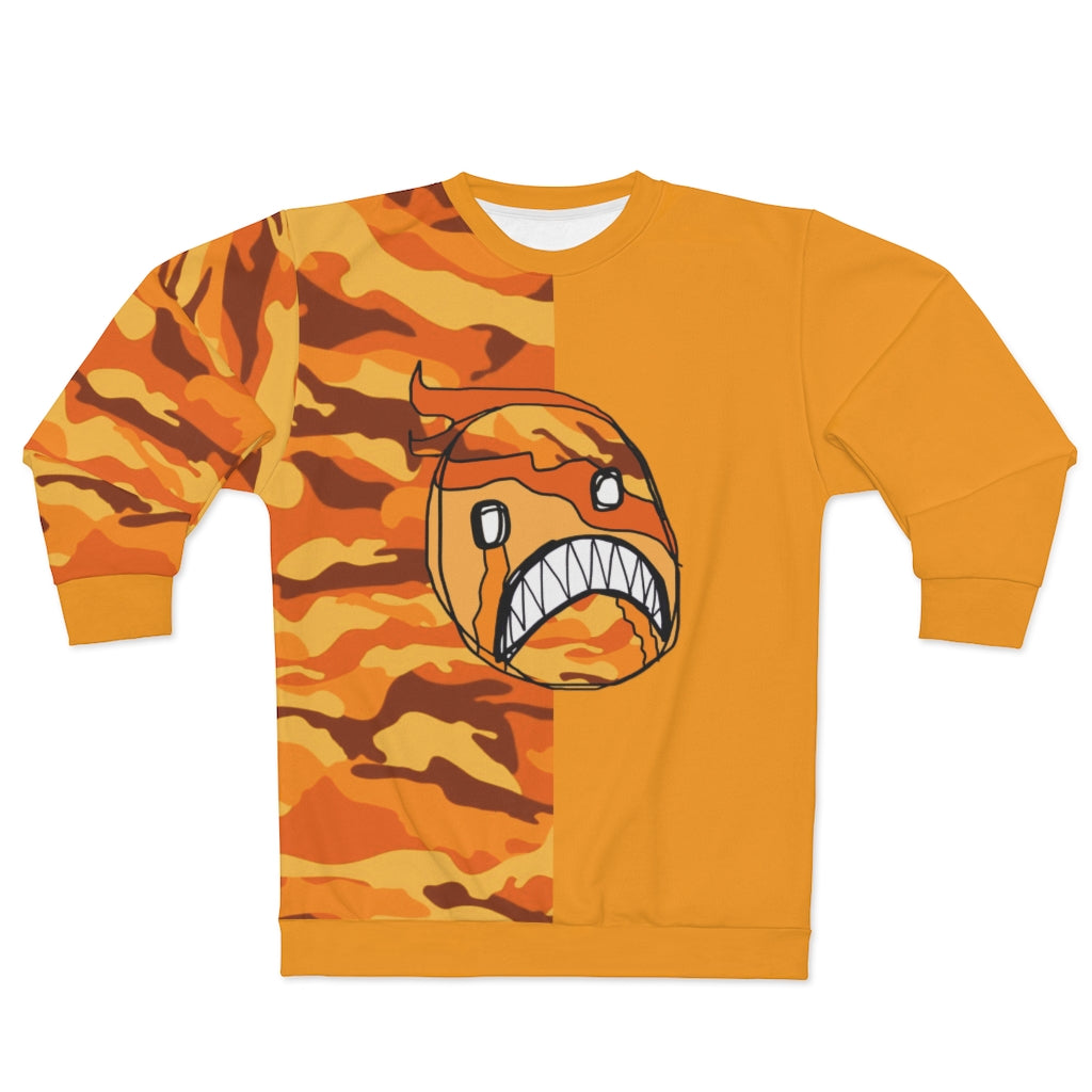 Emoji Frown Orange Two-Tone Unisex Sweatshirt