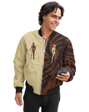 Load image into Gallery viewer, LaGuai Human Sand&Brown Tie Dye Bomber Jacket