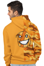 Load image into Gallery viewer, Emoji Orange Half Camo Hoodie