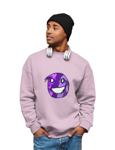 Emoji Purple Crewneck Sweatshirt