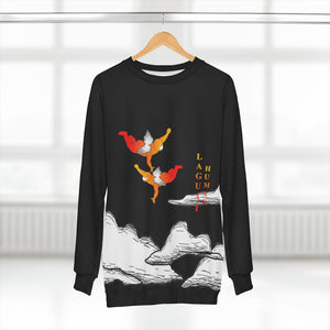 LaGuai Human Angels Orange Sweatshirt