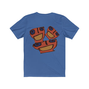 B-Blue Three Unisex Jersey Short Sleeve Tee