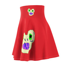 Load image into Gallery viewer, Magic Monster Red Women's Skater Skirt
