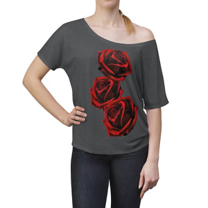 Love LaGuai Roses Women's Slouchy top