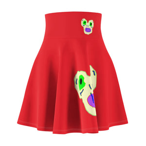 Magic Monster Red Women's Skater Skirt