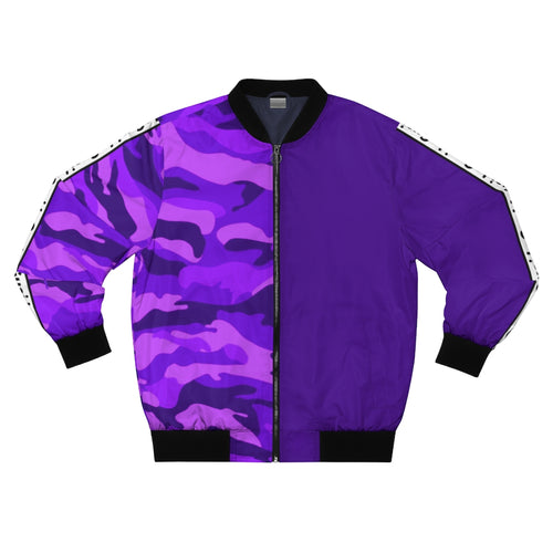 Emoji Split Purple Camo Bomber Jacket