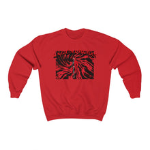 Load image into Gallery viewer, LaGuai Human Skeleton Red Crewneck Sweatshirt
