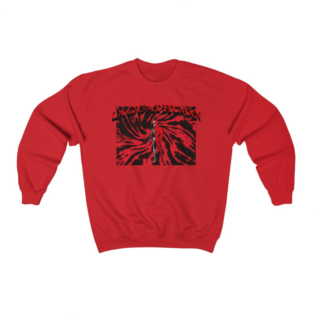 LaGuai Human Skeleton Red Crewneck Sweatshirt