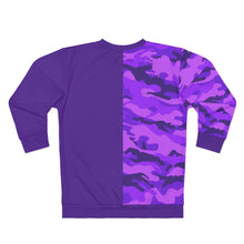 Load image into Gallery viewer, Emoji Purple two-tone Unisex Sweatshirt