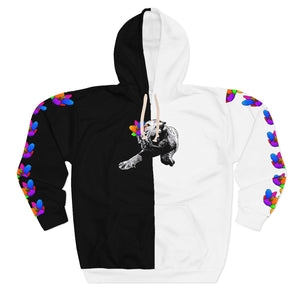 Royalty Blossoms Unisex Pullover Hoodie Colour Streetwear Trendsetter