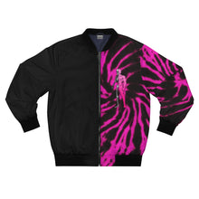 Load image into Gallery viewer, LaGuai Human Pink Tie Dye Bomber Jacket