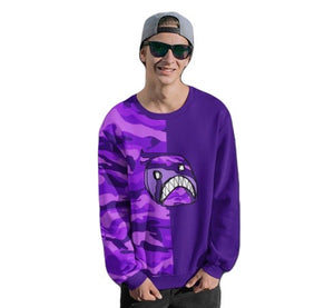 Emoji Purple two-tone Unisex Sweatshirt