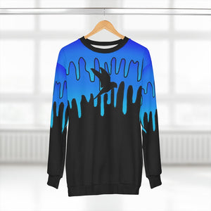 Wise Eagle Water Unisex Sweatshirt Blue Black