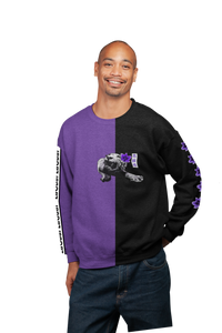 Spirit Duality Purple Unisex Sweatshirt Two-Tone Black/Purple LaGuai Tiger Purple Rose