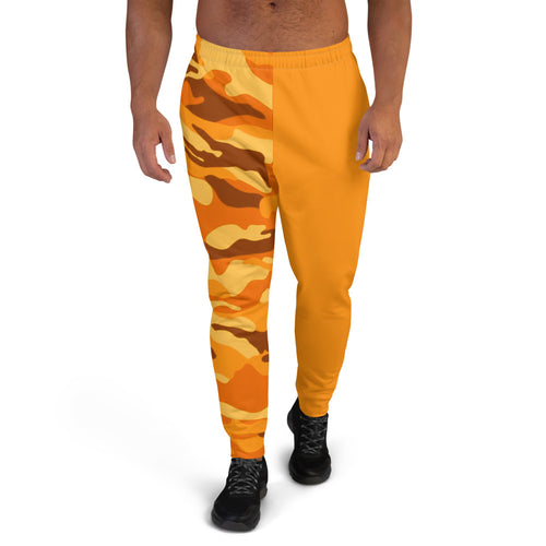 Emoji Orange Camo Two Tone Men's Joggers