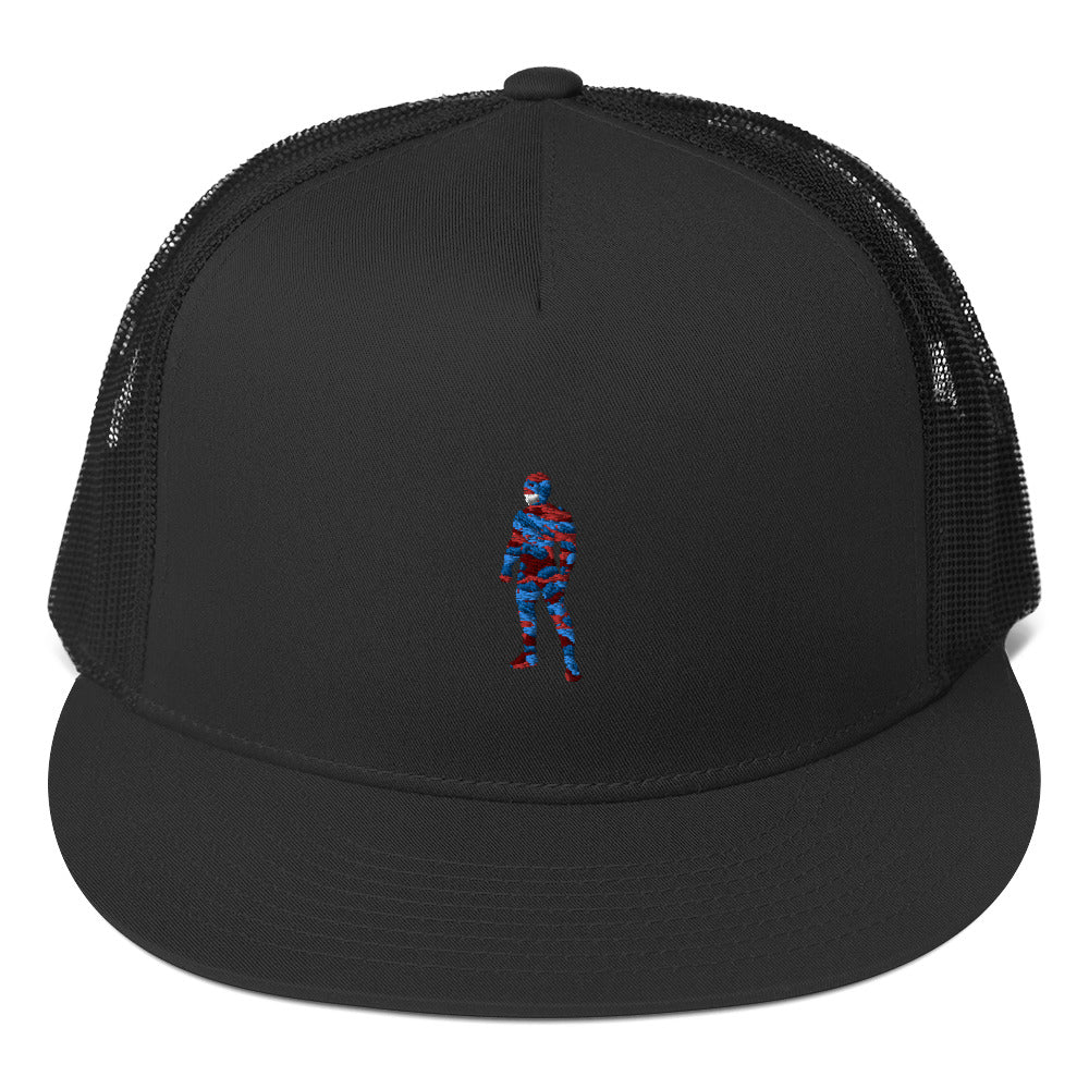 LaGuai Human Red & Blue Camo Trucker Cap
