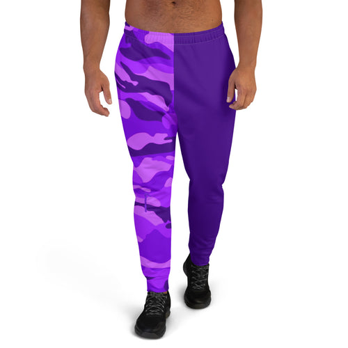 Emoji Purple Camo Two Tone Men's Joggers
