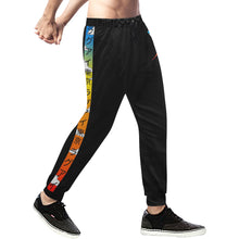 Load image into Gallery viewer, Wise Eagle Sunset Men's sweatpants