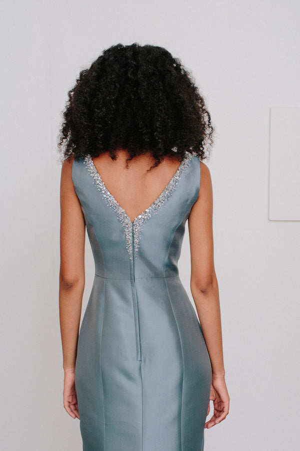V-Back Charlotte Gown with Crystal
